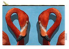Curves, A Head - A Flamingo Portrait Carry-all Pouch