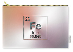 Periodic Table Of Elements - Iron Fe Carry-all Pouch
