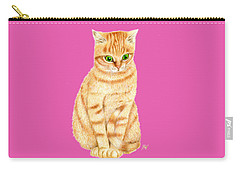 A Ginger Tabby Cat Carry-all Pouch