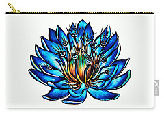 Weird Multi Eyed Blue Water Lily Flower Carry-all Pouch