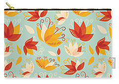 Whimsical Floral Pattern Of Abstract Lilies Carry-all Pouch
