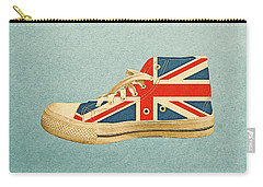 Carry-all Pouch featuring the digital art Hi Top With England Flag by Anthony Murphy