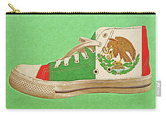 Carry-all Pouch featuring the digital art Hi Top With Mexican Flag by Anthony Murphy