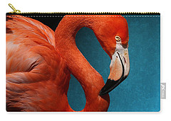 Profile Of An American Flamingo Carry-all Pouch