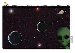 Carry-all Pouch featuring the digital art Ever Wonder What Is Out There by Anthony Murphy