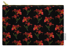 Portrait Of Red Lily Flowers Carry-all Pouch
