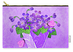 V Is For Violets Carry-all Pouch