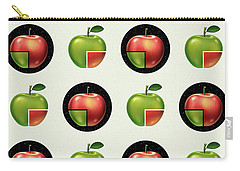 Divided Apple Pattern Carry-all Pouch