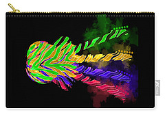 Carry-all Pouch featuring the digital art The Four Guitars by Guitar Wacky