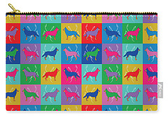 Carry-all Pouch featuring the digital art Pop Art German Shepherd Dogs by MM Anderson