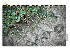 Poised Peacock Carry-all Pouch