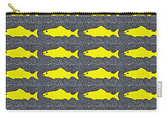 Yellow Fish Carry-all Pouch by Ethna Gillespie