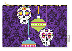 Feliz Navidad Holiday Sugar Skulls Carry-all Pouch