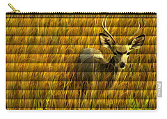 The Buck Poses Here Carry-all Pouch by Bill Kesler