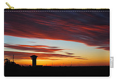 Carry-all Pouch featuring the photograph Sunrise Over Golden Spike Tower by Bill Kesler