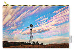 Carry-all Pouch featuring the photograph Crazy Wild Windmill by Bill Kesler