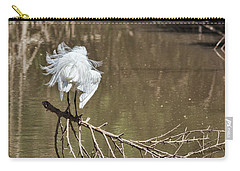 Carry-all Pouch featuring the photograph Fluff Time by Bill Kesler