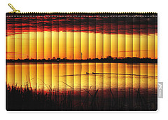Carry-all Pouch featuring the photograph Magnificent Sunrise Swim by Bill Kesler