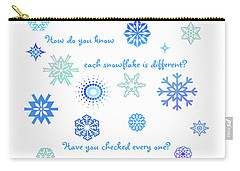 Snowflakes Carry-all Pouch by Methune Hively