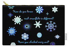 Snowflakes 2 Carry-all Pouch by Methune Hively
