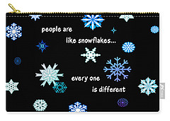 Snowflakes 4 Carry-all Pouch by Methune Hively