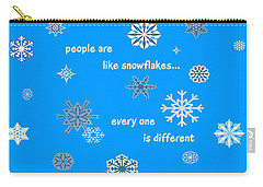 Snowflakes 5 Carry-all Pouch by Methune Hively