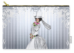 Carry-all Pouch featuring the digital art Victorian Rose by Shanina Conway