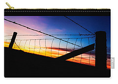 Carry-all Pouch featuring the photograph Hilltop Sunset by Bill Kesler