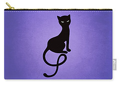 Purple Gracious Evil Black Cat Carry-all Pouch