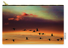 Sandhill Cranes Take The Sunset Flight Carry-all Pouch
