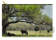 Carry-all Pouch featuring the photograph Shady Rest by Bill Kesler