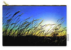 Carry-all Pouch featuring the photograph Tall Grass by Bill Kesler