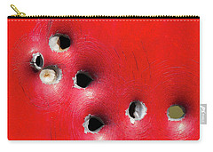 Carry-all Pouch featuring the photograph One Through The Back by Bill Kesler