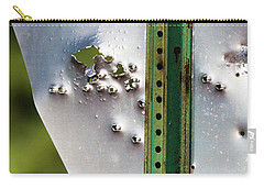 Carry-all Pouch featuring the photograph Bullet Hole Yield by Bill Kesler