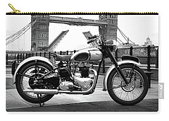1949 Triumph T100 Carry-all Pouch by Mark Rogan