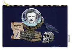 Spirit Of Edgar A. Poe Carry-all Pouch by Glenn Holbrook