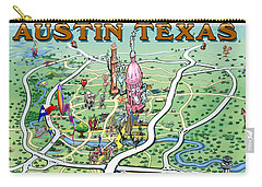 Carry-all Pouch featuring the painting Austin Texas by Kevin Middleton