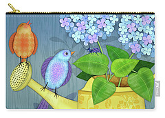 Two Birds On A Watering Can Carry-all Pouch