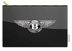 Bentley - 3d Badge On Black Carry-all Pouch