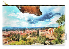 Arzachena Landscape With Rock Snd Clouds Carry-all Pouch