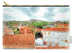 Arzachena Urban Landscape With Mountain Carry-all Pouch