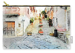 Arzachena View Staircase And Church Carry-all Pouch