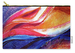 Carry-all Pouch featuring the painting As I Bloom by Kathy Braud