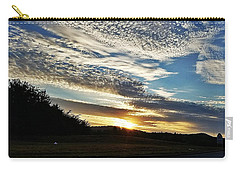 Carry-all Pouch featuring the photograph As I Watch The Sun Rise by Maria Urso