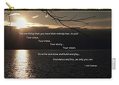 Carry-all Pouch featuring the photograph As Only You Can by Jordan Blackstone