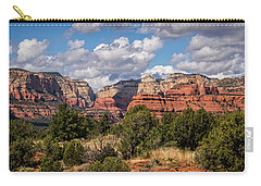 Carry-all Pouch featuring the photograph As The Clouds Pass On By In Sedona  by Saija Lehtonen
