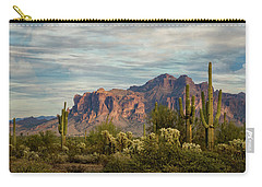 Carry-all Pouch featuring the photograph As The Evening Arrives In The Sonoran  by Saija Lehtonen