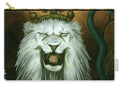 As The Lion Laughs Carry-all Pouch by Leah Saulnier The Painting Maniac