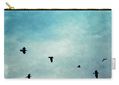As The Ravens Fly Carry-all Pouch by Priska Wettstein