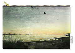 Carry-all Pouch featuring the photograph As The Sky Darkens  by Connie Handscomb